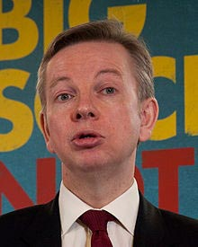 Michael Gove, Secretario de Estado de Educación de UK, 2012. Foto de Wikipedia.