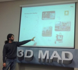 Jesús Arroyo en el meetup 3D Madrid
